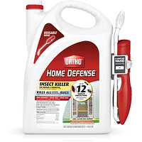 Ortho Home Defense Insect Killer for Indoor & Perimeter2: With Comfort Wand, Kills Ants, Cockroaches, Spiders, Fleas & Ticks, Odor Free, 1.1 gal.