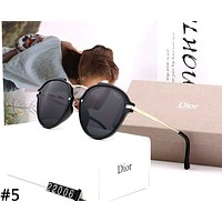 Dior 2019 new personality female color film polarized sunglasses #5