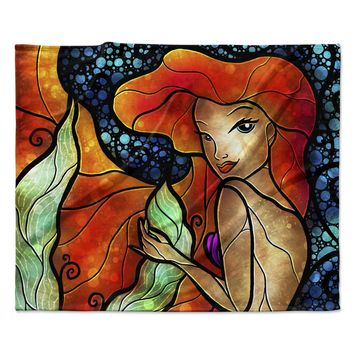 "Mandie Manzano ""Ariel"" Mermaid Fleece Throw Blanket"