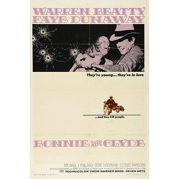 Bonnie and Clyde Poster//Bonnie and Clyde Movie Poster//Movie Poster//Poster Reprint
