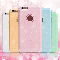 For iPhone 6 Case Luxury Bling Glitter Colorful Ultra Thin Soft TPU Gel Sparkle Cover For Coque iPhone 6 Case SE 5S 6S 6 Plus