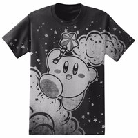 Nintendo KIRBY JUMPING CLOUDS AND STARS T-Shirt NWT Licensed & Official