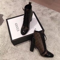Gucci women Casual Shoes Boots fashionable casual leather