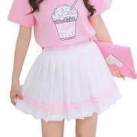 Sweet Mini Cute Harajuku Skirts Preppy Style Lolita Saia School Uniforms Faldas Ladies Jupe Kawaii Women Pleat Skirt 2SKMU06
