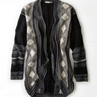 Don't Ask Why Patterned Open Cardigan