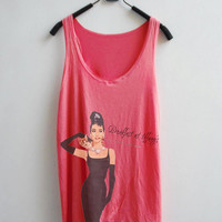 Women Tank Top - Audrey Hepburn Breakfast at tiffanys Poster
