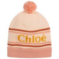 Girls Soft Knitted Pink Hat with Pom Pom