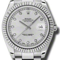 Rolex - Datejust II 41mm - Steel and Gold White Gold - Fluted Bezel #116334SDO