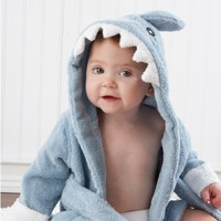 Adorable Baby Shark Robe - Whimsical & Unique Gift Ideas for the Coolest Gift Givers