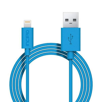 Incipio Lightning Charger & Sync Cable - Cyan