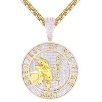 Greatest Of All Time Big Medallion Icy Hip Hop Pendant Chain