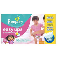 Pampers 2766 Girls Easy Ups Training Pants Diapers, 2T3T(Size 4), Pack of 100