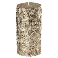 Black Orchid Pillar Candle, Gold