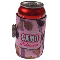 Pink Camo Princess Can Beverage Cooler Lot of 3 Holder Cover Redneck Gag Gift