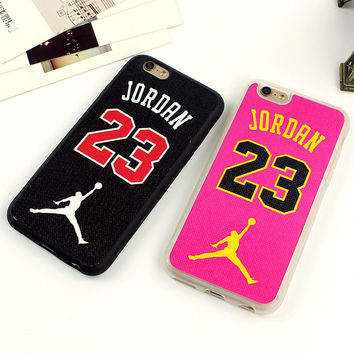 Luxury Newest Basketball Champion No.23 Jordan Covers Cases For iphone 6 6s 6 Plus For iphone Case Back Covers Rose Black Fundas