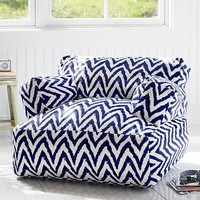 Navy Tie Dye Chevron Eco Lounger