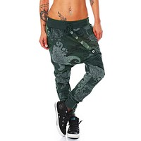 spring Female low Waist Harem Pant Womens fiber Octopus Printing Baggy Hip Hop Pant Streetwear casual pants female trousers