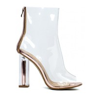 Perspex Ankle Boots With Gold Elements
