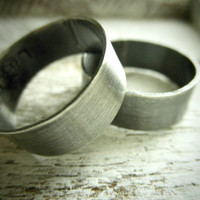 Modern Couple's Ring Set w/ Secret Messages Bold & by palefishny