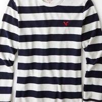 AEO 's Heritage Striped Thermal (Oatmeal Heather)
