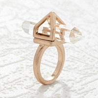 Caged Faux Stone Ring