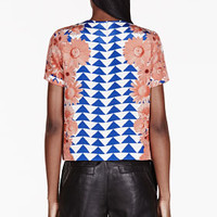 Mother Of Pearl Coral Crepe De Chine Boxy Juno Heave T-shirt