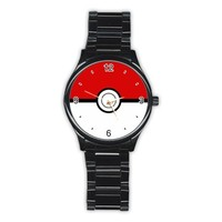 Pokeball Black Stainless Steel Watch