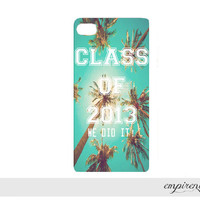 CLASS OF 2013 iPhone case hard plastic trendy palm trees awesome graduate grad gift