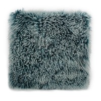 Lamb Fur Pillow Large Teal Wool