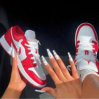 Bunchsun Air Jordan1 Low AJ1 Trending Women Men Casual Couples Sport Shoes Sneakers