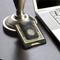 Engraved Groomsmen Gifts, Leather Wallet and Money Clip with Personalized Engraving, Best Man Gift or Groomsman Gift