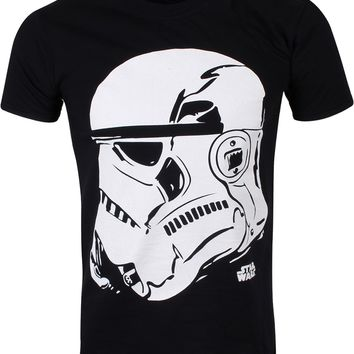 Star Wars Stormtrooper Profile Men's Black T-Shirt