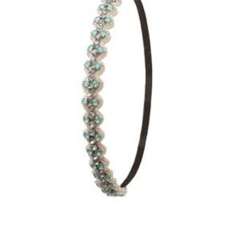 Silver Combo Jeweled & Beaded Head Wrap by Charlotte Russe