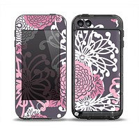 The Pink and White Solid Flowers Skin for the iPod Touch 5th Generation frē LifeProof Case