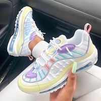 Nike air max 98 easter pastels retro atmospheric cushion running shoes