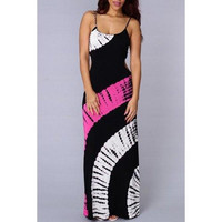 Sexy Strappy Hollow Out Printed Maxi Dress For Women
