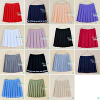 Skirts Womens Hot Sale Women's Pleated Plus Size Xs-4xl Uniforms Skirt For Women Students High Quality Solid Tennis