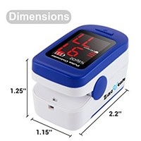 Zacurate 500BL Fingertip Pulse Oximeter Blood Oxygen Saturation Monitor with Batteries and Lanyard...