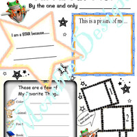 Kid Questionnaire About Me activity page PDF Download All about them getting to know acquainted group activity reception room class school