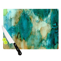 "Rosie Brown ""Waterfall"" Teal Blue Cutting Board"