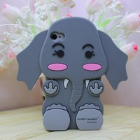Silicone Elephant Case For iPhone4/4S