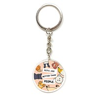 Dogs Are Better Than People Keychain
