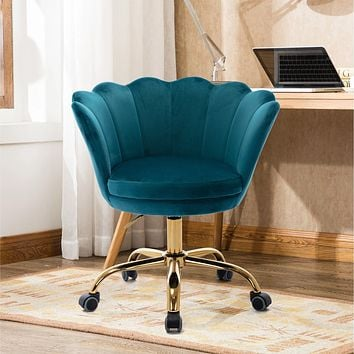 Desk chair with wheels - Velvet Green