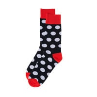 Mr.ZZ Men's Fashion Dress Socks White Dots