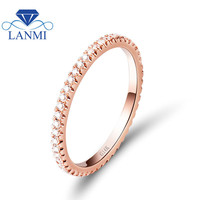 Real Diamond Women Wedding Ring In Solid 14Kt Rose Gold Wedding Ring,Cheap Gold Ring For Sale R0014