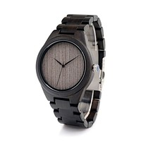 Ebony Colour Wooden Mens Watch