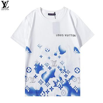 Louis Vuitton LV Classic hot sale printed letter logo hooded T-shirt White