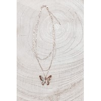 Fly Baby Fly Gold Butterfly Necklace