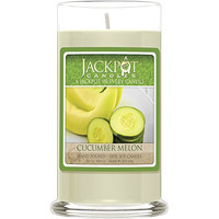 Cucumber Melon Candle with Ring Inside (Surprise Jewelry Valued at $15 to $5,000) Ring Size 7