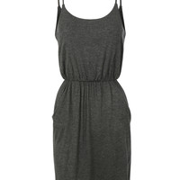Womens Casual Summer Adjustable Straps Sleveless Dress with Pockets